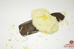 Il Salato e il Dolce: Vialone nano, agrumi, parmigiano e fondente di cioccolato