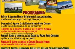 Settimana Escursionistica Silana 6/12 Agosto 2016