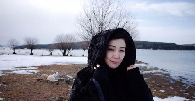 """Un fotogramma delle riprese del film """"White flowers"""" in Sila"""