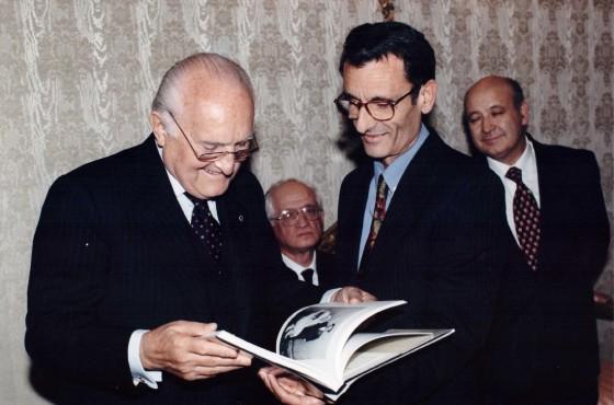 Basile con il presidente della Repubblica Scalfaro