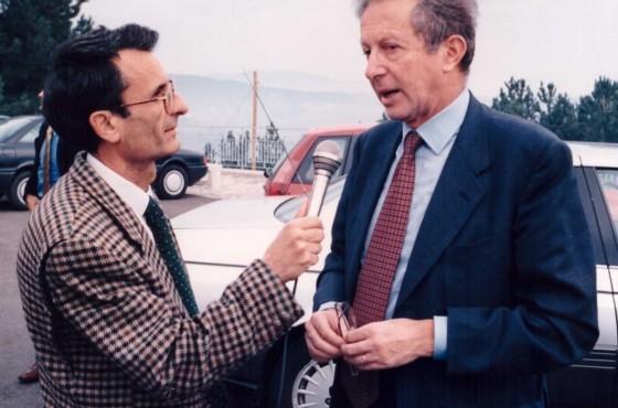 Basile che intervista Mario Segni